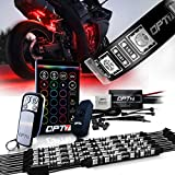 OPT7 10pc Aura Motorcycle LED Light Kit | Multi-Color Accent Glow Neon Strips w/Switch for Cruisers