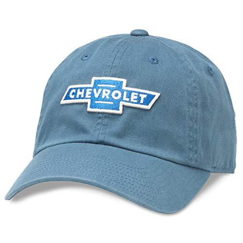 AMERICAN NEEDLE Chevrolet Baseball Dad Buckle Strap Hat (GM-1902A-BREB) Breaker Blue