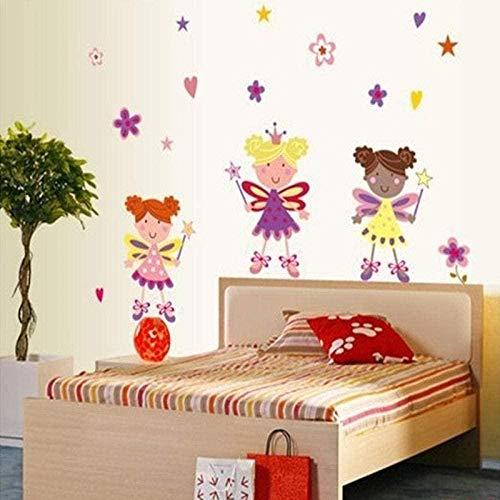 Muursticker,mode muurschilderingen kinderkamer muurstickers meisje slaapkamer nachtkastje muurstickers sterren kleine engel achtergrond decoratie maat 50 * 70cm