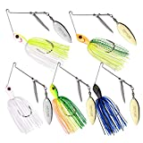Goture Spinnerbait Double Willow Blade Spinner Baits Fishing Lure for Bass Pike Trout 1\/2oz (5 Pack)