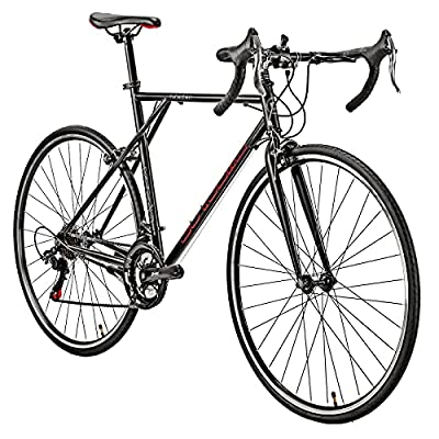 YH-XC560 Classic 700C Road Bike XL 56CM Frame 21 Speed Aluminum Rims Bicycle Commuter Bikes for Mens (Black)