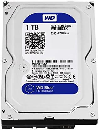Western Digital(WD) BLUE Deskptop 1TB( 1Terabyte) 3.5″Hard Disk Drive, 5400~7200RPM, SATA3 ( 6.0GB/s), 64MB Cache, IDEAL for PC/Mac/CCTV/NAS/DVR/Raid and SATA Applications, 1YR Warranty (Blue)