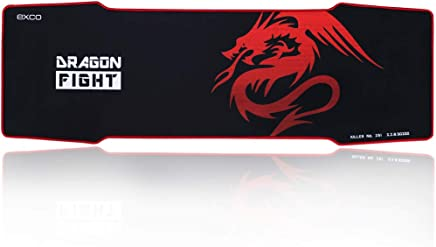 RED DRAGON - EXCO Extra Extended Gaming Mouse Pad, 900 x 300 x 5mm Thick, Large Mouse mat with Smooth Surface and Precise Tracking by EXCO?