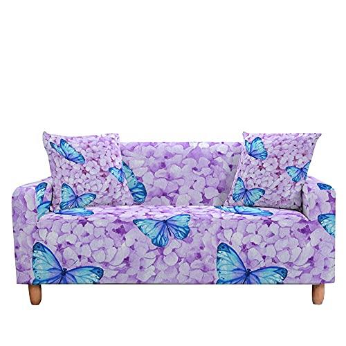 WXQY Funda de sofá de Mariposa Funda de sofá elástica para Sala de Estar sillón a Prueba de Polvo Antideslizante Funda de sofá Todo Incluido A8 1 Plaza
