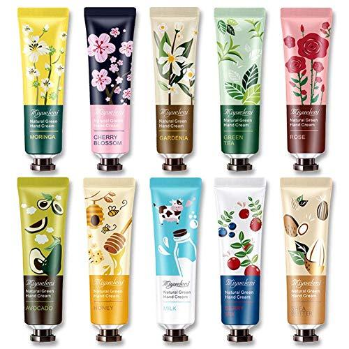 N-brand Paquete de 10 cremas para el Cuidado de Las Manos de Plantas Naturales