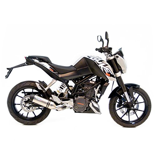 LeoVince LV One 8725 Slip-On Evo2 - Tubo de escape para motocicletas, acero inoxidable, para 125 Duke 4T y 200 Duke 4