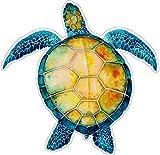 UNIQUE BRIGHT Watercolor Sea Turtle - Bumper Sticker/Decal (4.5' X 4.75')