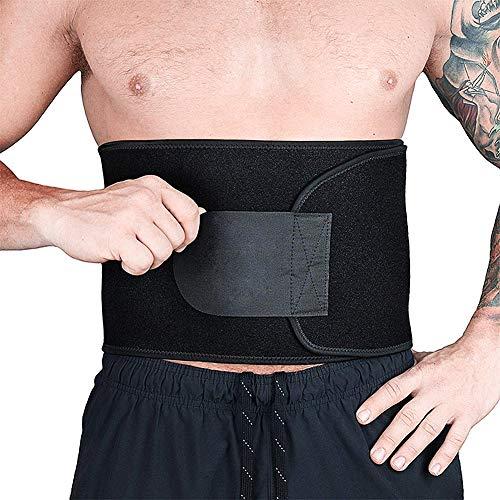 Cozyhoma Taillentrimmer Schweißgürtel Taillen-Trainer Fat Burner Workout Fitness Slimmer Trainer Gürtel für Rückenunterstützung Bodyshaping, Stoff, M, M