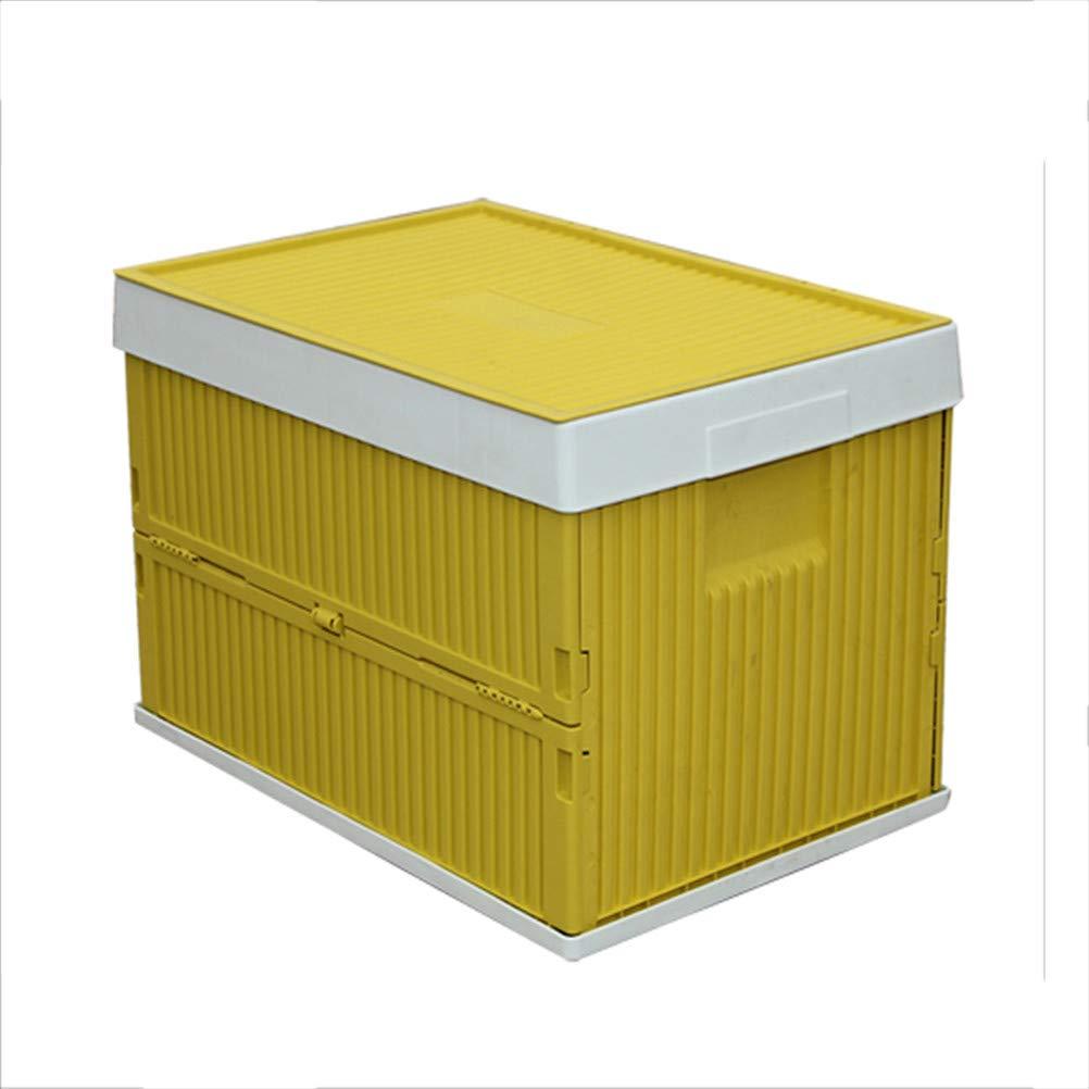 Multifuncional Caja Plegable Almacenamiento Plástico Cesto Plegable Apilables Cajas Almacenaje Lea Cesta Ordenación Portátil Organizador Del Coche Envase Plegable,Amarillo: Amazon.es: Hogar