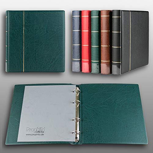 Prophila Kobra Album A5 Standard-Ringbinder für Münzen Banknoten Postkarten ETB (grün)