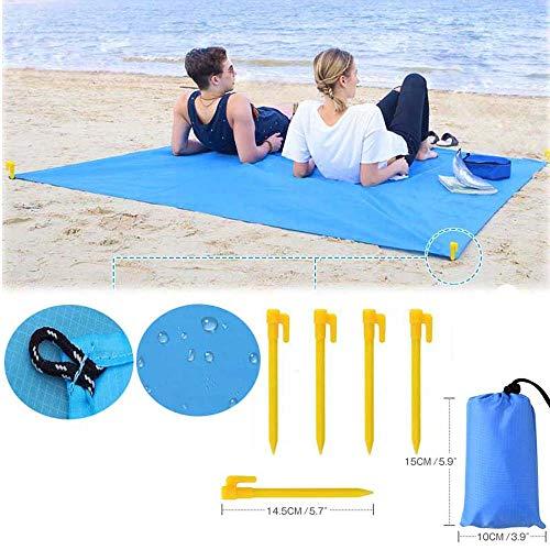 100 * 140 Cm Wasserdichte Faltbare Abdeckung Sandproof Camping Picknick Decke Strand Matte