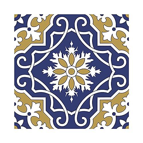 Etiquetas Engomadas Del Azulejo Auto Adhesiva Pared Para La Decoración Casera de Pegatinas Pared Impermeables Cocina Pegatinas SueloTextura azul (mate) 20 X 20cm(10pcs)