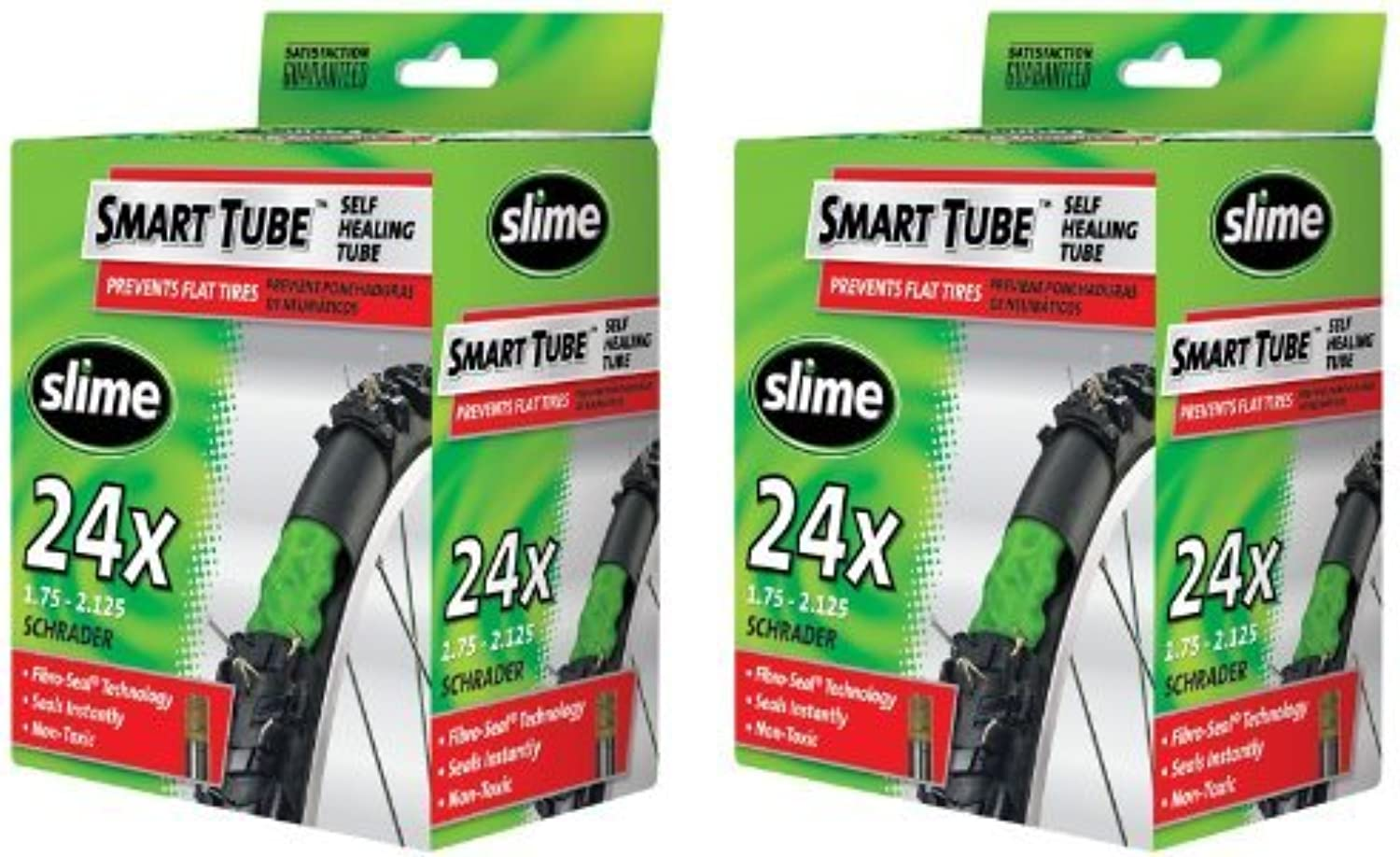 Slime Smart Tube Schrader Valve Bicycle Tube (24 X 1.75 to 2.125), by Slime