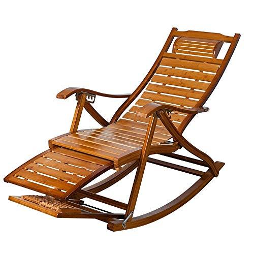 NGDDGS Sillas Plegables de bambú Ajustable Chaise LoungesSummer Sillón Viejo Tipo S Sillas de Cubierta Casual for Patio Oficina de Playa Piscina al Aire Libre Jardín Patio Balcón