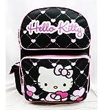 Mochila mediana – Hello Kitty – Bolso escolar con diseño de corazón con purpurina, color...