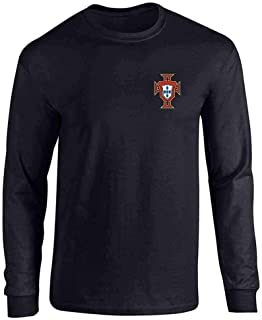 Portugal Soccer Retro National Team Football Full Long Sleeve Tee T-Shirt