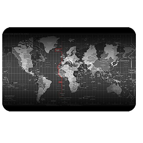 LL-COEUR XXL World Map Mouse Pad Laptop Gaming Play Mat Office Desk Mat (800 x 500 x 3 mm)