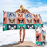 Gebrb Toalla de baño de Microfibra,Toallas de Gimnasio,Cute Puppy Microfiber Fast Drying Towels Suitable for Camping, Backpacking,Gym, Beach, Swimming,Yoga