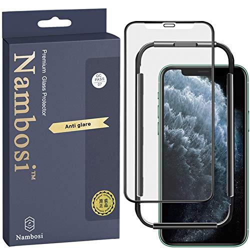 Nambosi Matte Screen Protector iPhone 11 iPhone Xr Anti Glare Anti Fingerprint Full Tempered Glass Film for iPhone 11/iPhone Xr 6.1 Inch Black