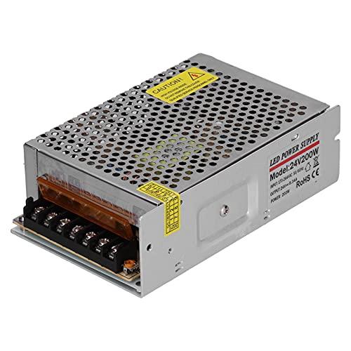 CUTULAMO Transformador de Fuente de alimentación conmutada, componentes de protección del Controlador de la Fuente de alimentación conmutada Carcasa de aleación de Aluminio de diseño liviano para