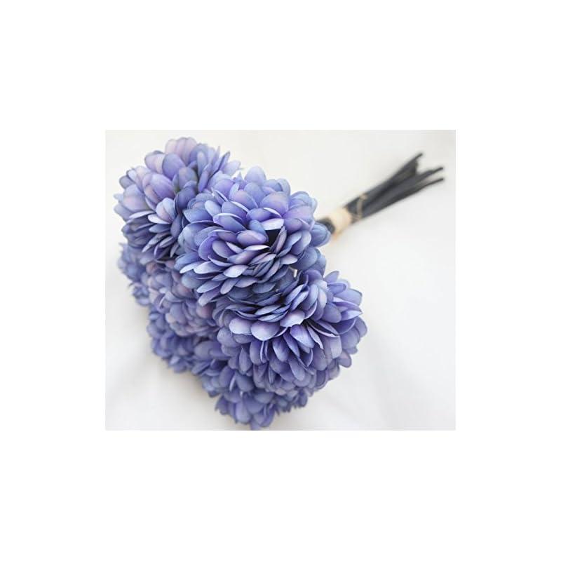 silk flower arrangements lily garden silk chrysanthemum ball 7 stems flower bouquet