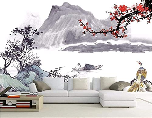 Pantalla de grifos de pared Fondo de tinta personalizado Pintura de pared Resumen Hotel Ciruela Murales Sala de estar Dorm Pared Pintado Papel tapiz 3D dormitorio de estar sala sofá mural-430cm×300cm