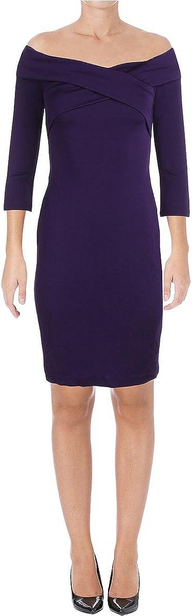 Lauren Ralph Lauren Women's Off-The-Shoulder V-Neck Dress