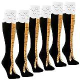 Womens Novelty Funny Crazy Socks - 1-3Pack Cool Funky Animal Cartoon Cosplay Chicken Leg Knee High Mid-calf Gift Socks