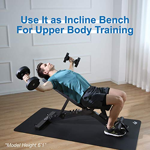 Semi-Commercial Adjustable FID Weight Bench and Exercise Equipment Floor Mat