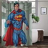 Superman-Duschvorhang, langlebig, hohe Temperaturwiderstandsfähigkeit, modischer Polyester-Duschvorhang, ungiftig, kein Geruch.