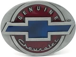 Genuine Chevrolet Logo Belt Buckle solid metal enamel color