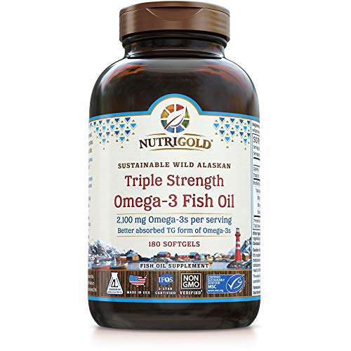 NutriGold Triple Strength Omega-3 Fish Oil Supplement