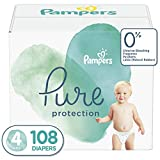 Diapers Size 4, 108 Count - Pampers Pure Protection Disposable Baby Diapers, Enormous Pack