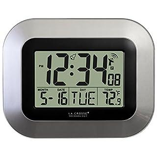 La Crosse Technology WT-8005U-S Atomic Digital Wall Clock with Indoor Temperature, Silver (B002BDV8DC) | Amazon price tracker / tracking, Amazon price history charts, Amazon price watches, Amazon price drop alerts
