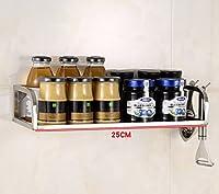 IVHJLP 高品質のステンレス鋼の多機能キッチン調味電子レンジシェルフラック、キッチン収納棚壁掛け用フロアスタンド (Size : Length 50cm)