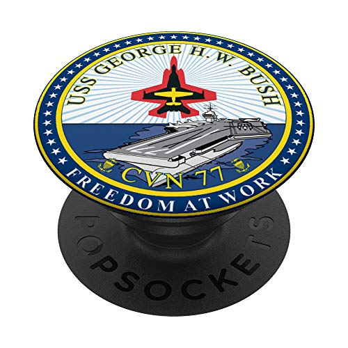 USS George H.W. Bush CVN-77 Aircraft Carrier PopSockets PopGrip: Swappable Grip for Phones & Tablets