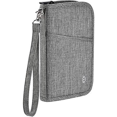 Billets davion stylos cl/és Pochette Etui pour Passeport xperg Porte-Passeport avec Blocage RFID Organisateur//Porte-Document pour Carte de cr/édit t/él/éphone Portefeuille de Voyage pour Familial