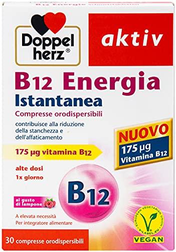 B12 Energia Istantanea - Vitamina B 12 175µg - alto Dosaggio - per la riduzione della Stanchezza e dell` Affaticamento - Vegano - 30 compresse orodispersibili