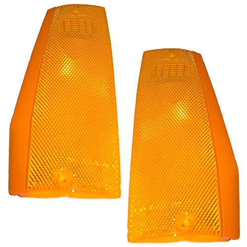 Driver and Passenger Signal Side Marker Lights Lamps Replacement for Jeep SUV Pickup Truck 56000111 56000110