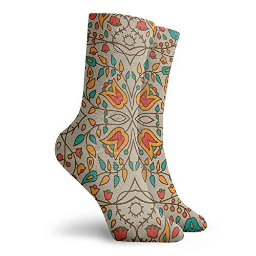 NGMADOIAN sokken - Oosterse bloemenpatroon - schilderij Svetlana Novikova Athletic Long Crew sokken voor mannen vrouwen 30 cm
