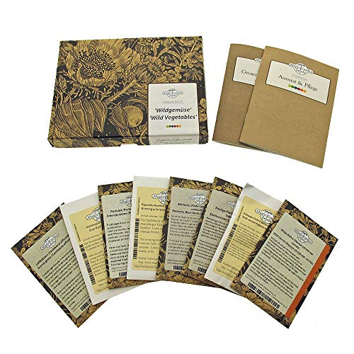 Wildgemüse - Samen-Geschenkset mit 8 eher unbekannte Geheimtip-Gemüsesorten für den Garten