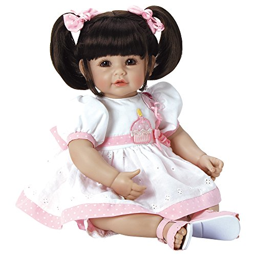 Adora ToddlerTime 'Let's Celebrate Baby ' Doll with with fancy appliquéd birthday dress and  pink sandals
