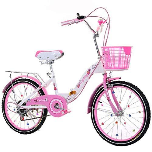 WCY Las Bicicletas Plegables Bicicletas for niños de 18 Pulgadas Cambio de...