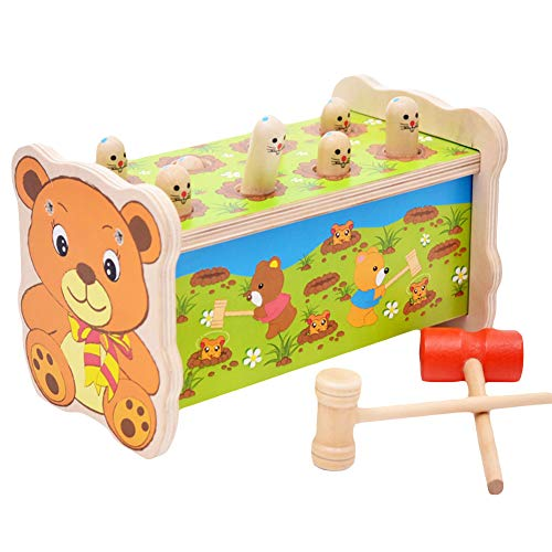 Deykhang Eco-Friendly Bear Whack A Mole Game Machine Pounding Puzzle Toy Gift for Kids Children Toddlers