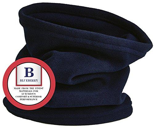 Navy Fleece Neck Warmer Gaiter For Men and Women – Ultra Soft, Warm and Cozy- Polar Fleece Thermal Winter Gear by Blueberry Uniforms