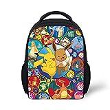 Mini sac à dos pour enfants de maternelle - Motif de dessin animé Pokémon - Pour bébés et filles - Petit sac à dos Kawaii Pikacu