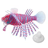N&G Accesorios para Sala de Estar Acuario Peces simulados Realistas de Silicona Brillante Adorno de pez león Falso con Ventosa Decoración de Acuario Adorno de Acuario