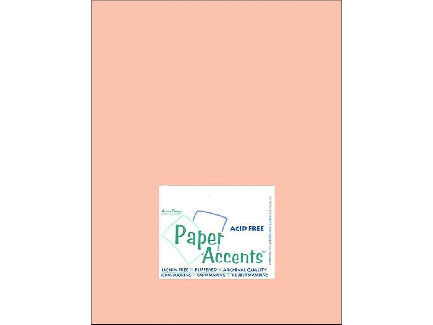 Accent Design Paper Accents Cdstk Muslin 8.5x11 74# Peach Glow