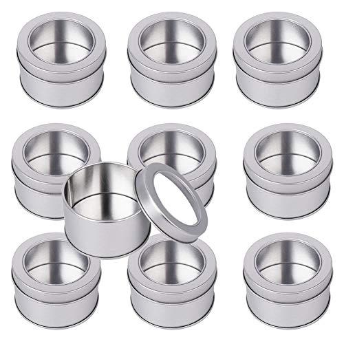 10 Pcs Rectangulares Forma Redonda de Metal Cajas Metalica P