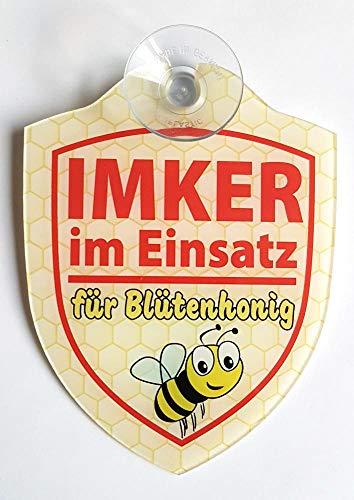 Schilder Einsatzschild für die Windschutzscheibe incl. Saugnapf IMKER IM Einsatz (WappenImker)
